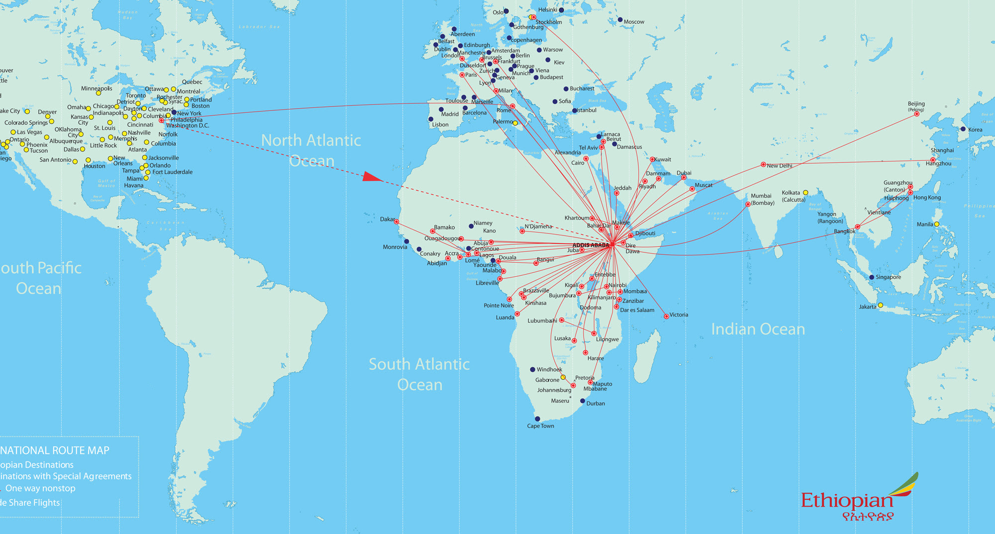 Ethiopian Airlines Routes