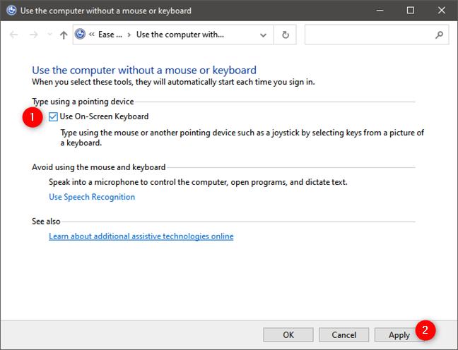 Usar el teclado en pantalla