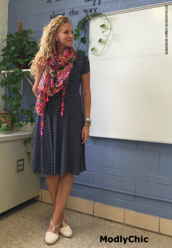 first day of school outfit  teacher edition  modlychic