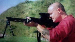 Mark Bridger with gun