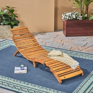 Christopher Knight Home Lahaina Wood Outdoor Chaise Lounge ...
