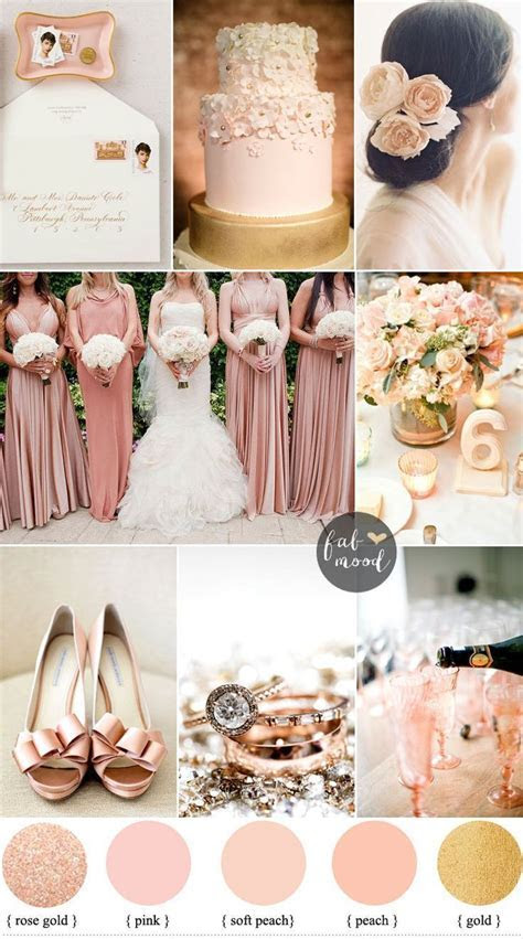 Blush rose gold and peach wedding Colours { sophisticated