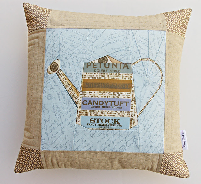 Watering Can Paper Pieced Pillow