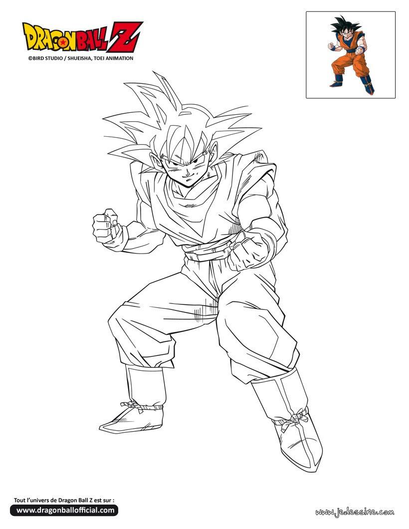 Coloriages Goku à Colorier Frhellokidscom
