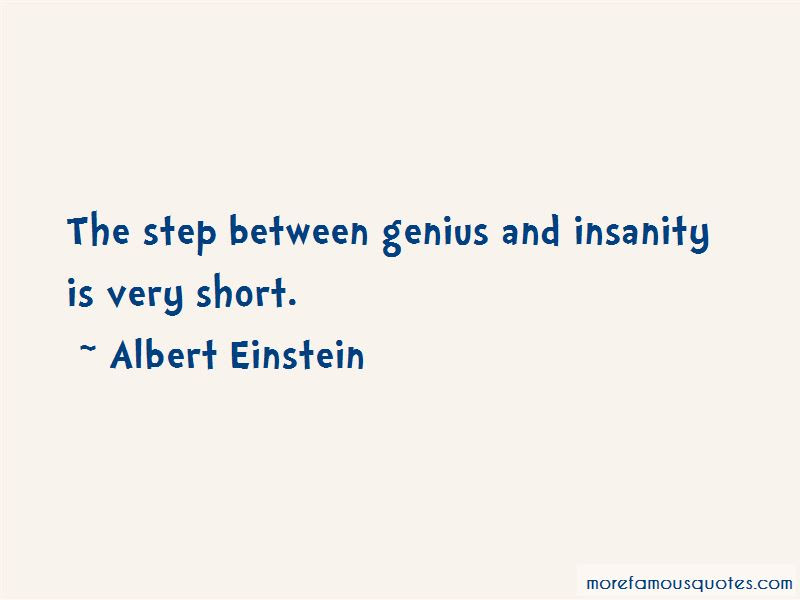 Quotes About Genius And Insanity Top 37 Genius And Insanity Quotes