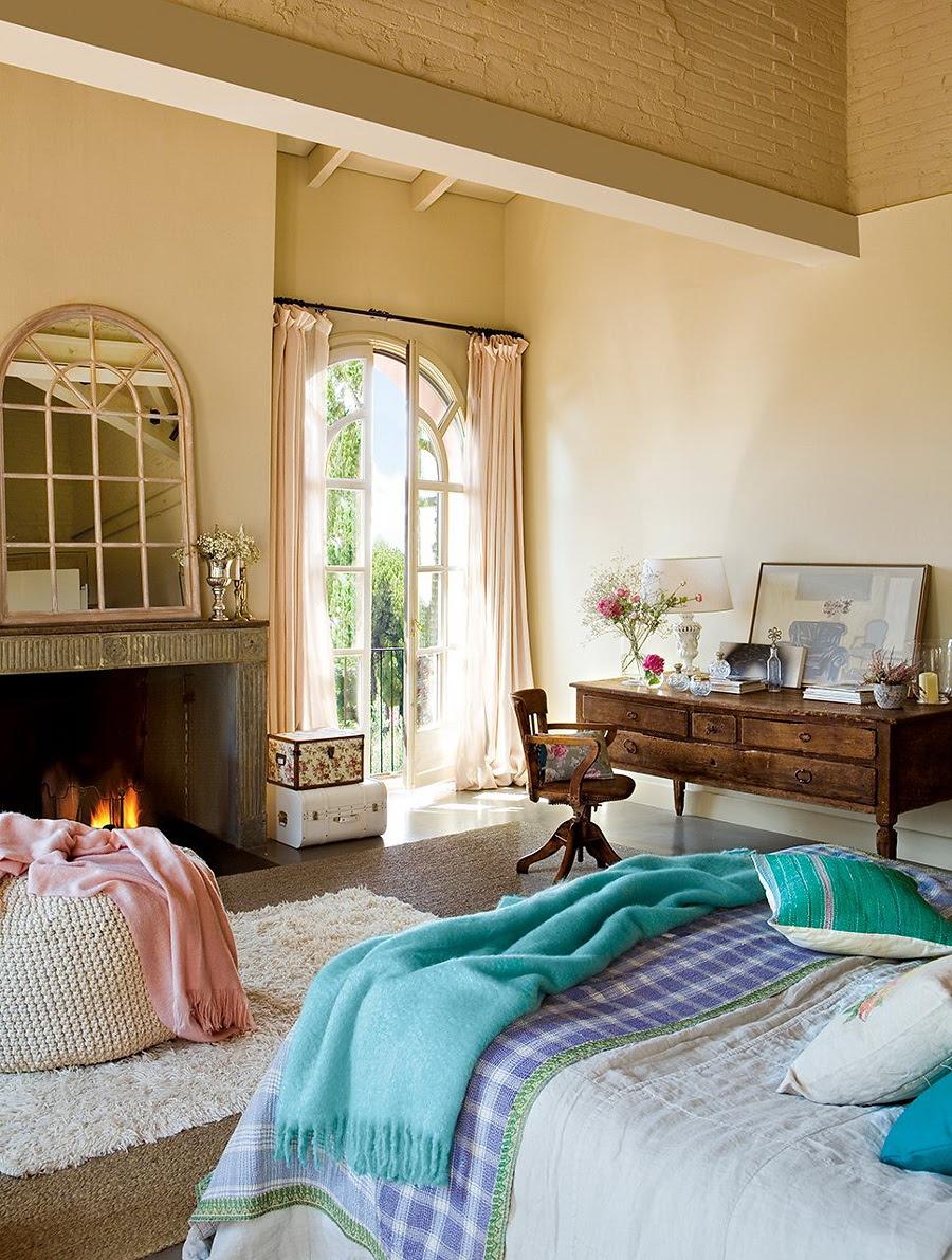 El Mueble dormitorio un aire vintage en azul y rosa 5