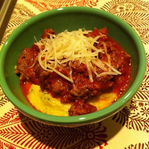 Italian Beef w/ Cheesy Polenta