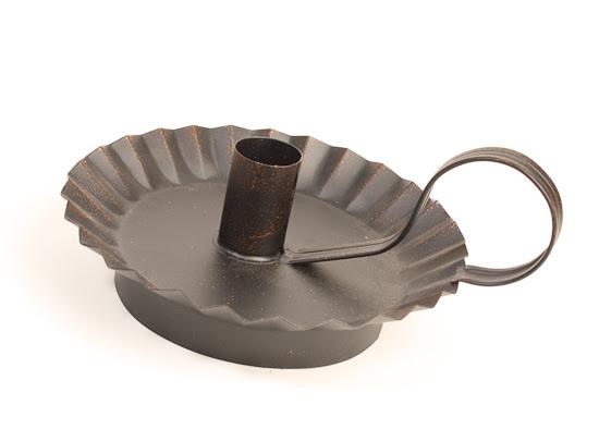 Black Primitive Taper Candle Holder - Rusty Tin Primitives ...