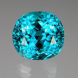 This Cambodian Zircon features a fine, rich, bright blue with no green. It weiighs 16.16 carats