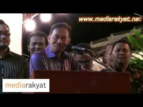 Pidato berapi... Anwar tak sebut bukan dia dalam rakaman seks...
