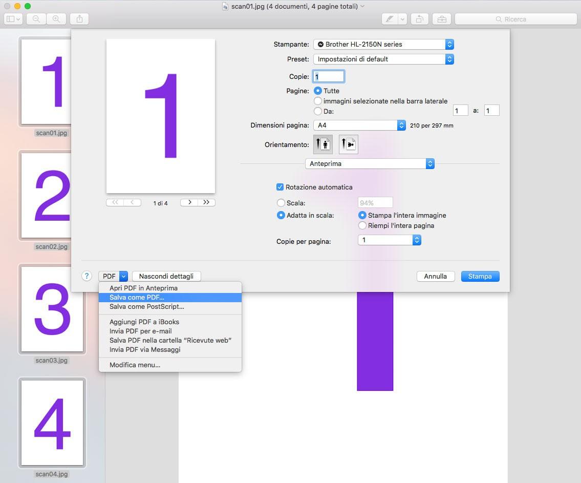 Come Unire Più Immagini Jpg In Un Unico File Pdf Con Mac Os