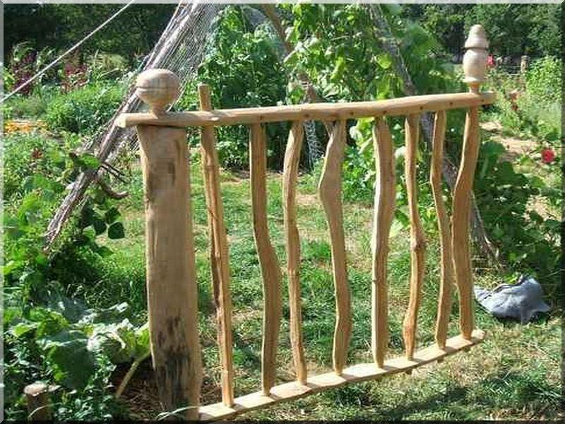 tailacreaciones: Cloture De Jardin Rustique