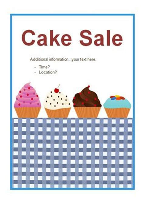 Editable Cake Sale Poster   Free Early Years & Primary