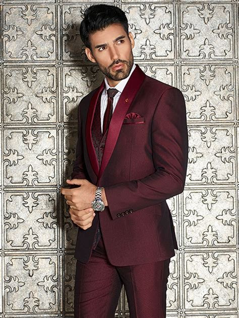 Maroon Solid Designer Coat Suit, maroon color, White