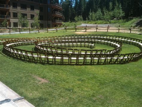 Tahoe Wedding Collection: Creative Ceremony Seating Layouts