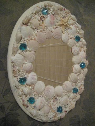 Mosaic shell Mirror