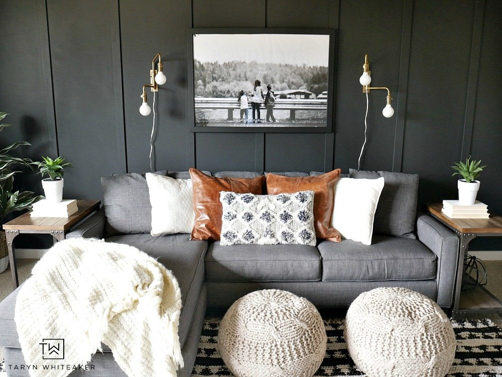 Dark Moody Room Makeover Taryn Whiteaker