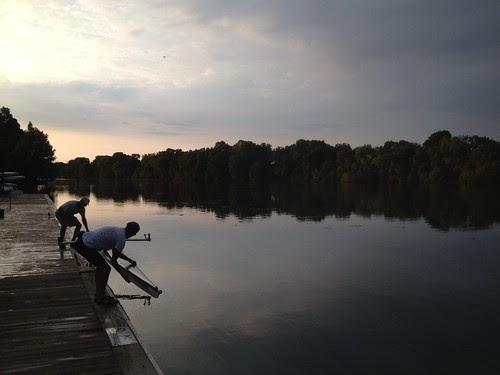 The morning starts on Lady Bird Lake