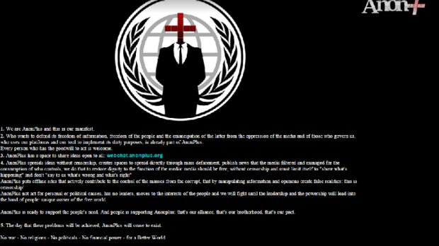 Hacking group AnonPlus replaced Victoria's Human Rights Commission website with this message.