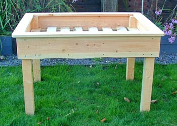 Ash Green Raised Beds | Beds with Legs