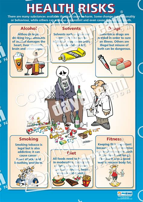 health risks pshe educational school posters
