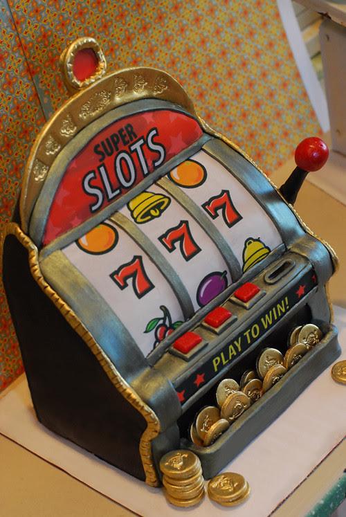 Casino slot machine cake