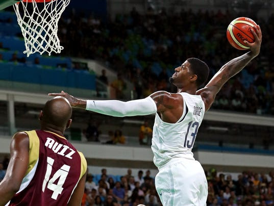 Olympics: Basketball-Men's Team-Preliminary Round USA vs VEN