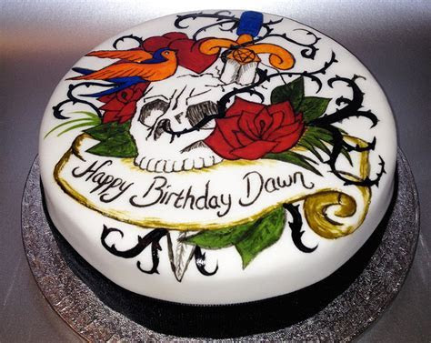 Tattoo Birthday Cakes