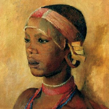 Karen Blixen's painting of a young girl from the Kikuyu tribe.