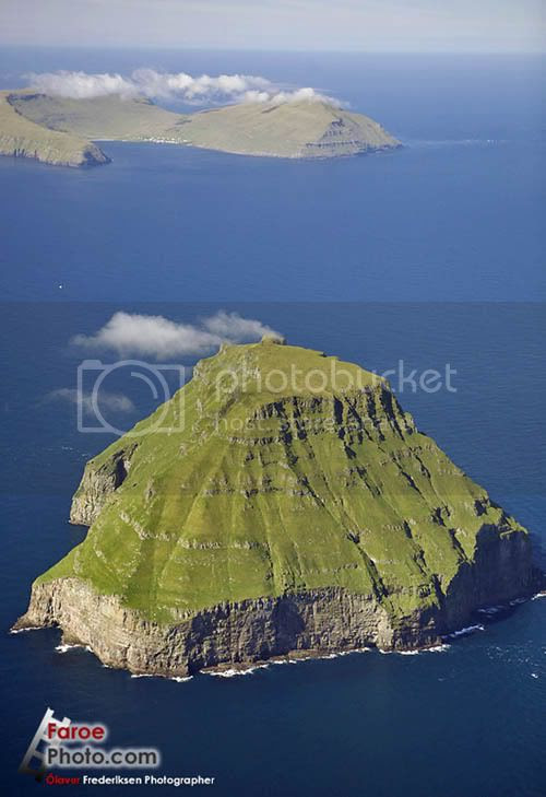 Faroe Islands, Litla-Dimun, the only uninhabited island of the Faroe Islands