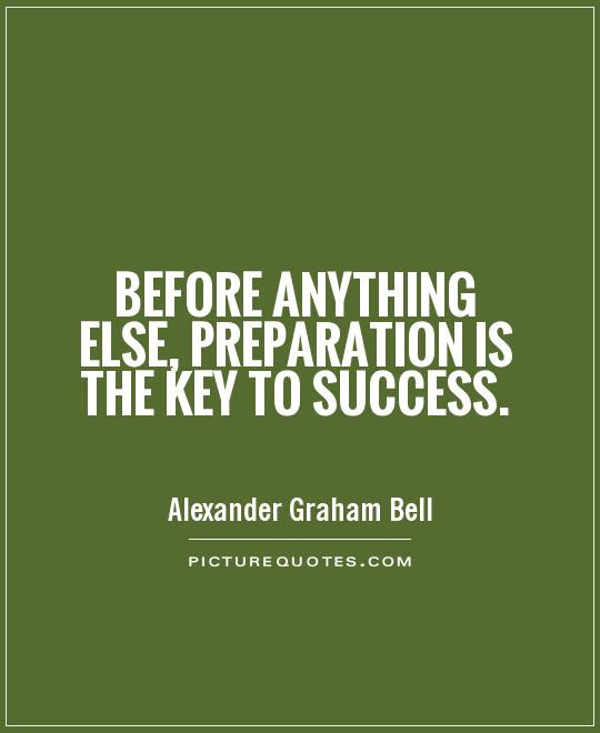 Before Anything Else Preparation Is The Key To Success Picture Quotes