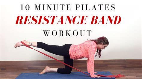 resistance band exercises  minute beginner pilates