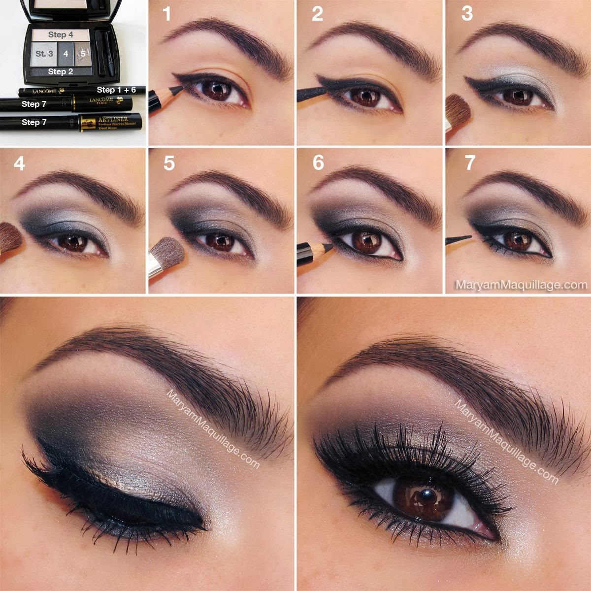 smokey brown eye makeup tutorial | make up ideas