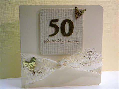 Golden Wedding Anniversary Card   The Handmade Card Blog