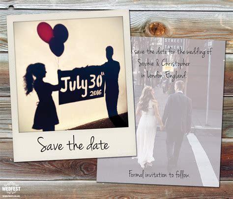 Polaroid Wedding Save the Date Cards   WEDFEST