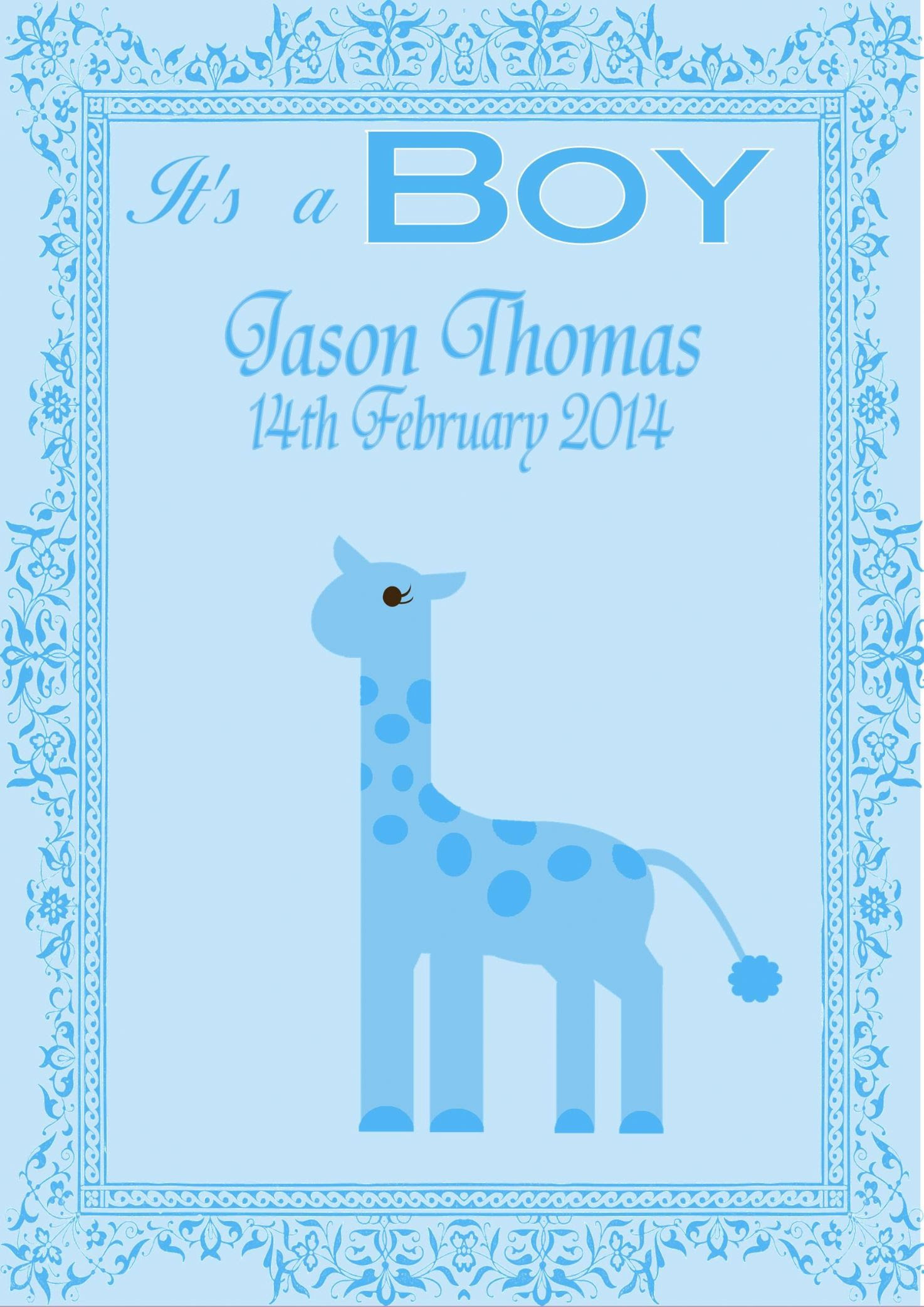 girl card message baby gift design new baby card boy 6 personalised