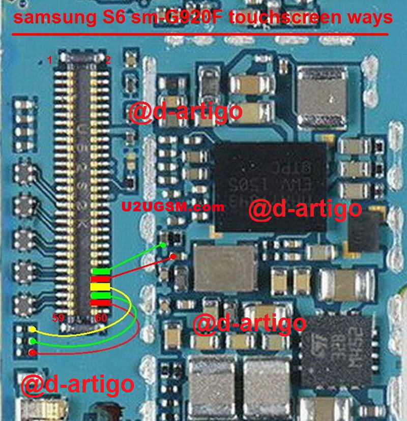 Samsung Galaxy S6 G920F touch screen not working problem solution jumpers