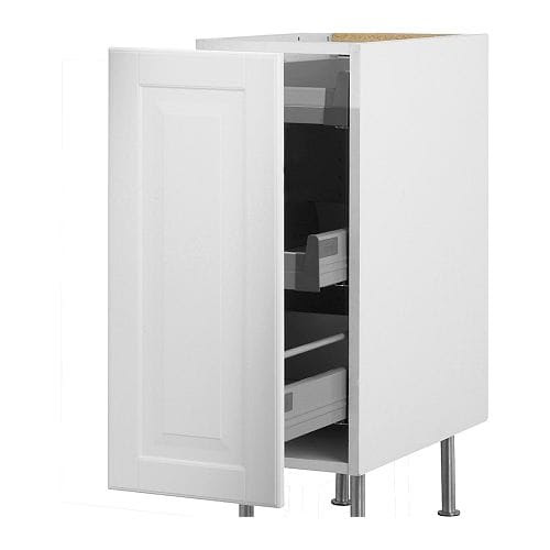 AKURUM Base cabinet with pull-out storage - white, Lidi ...