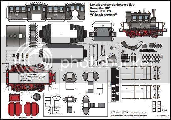 photo Bavarian State Railroad Locomotive Paper Model - via Papermau 001_zps4bemiqjd.jpg