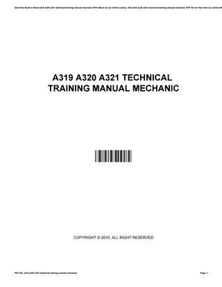 A319 a320 a321 technical training manual mechanic by