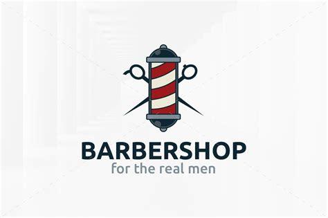 barber shop logo template logo templates creative market