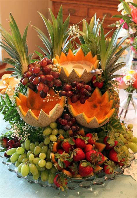 Fruit Cascade   fruit display with dips for parties
