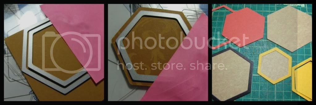 Photo collage - counterfeiting Hexies