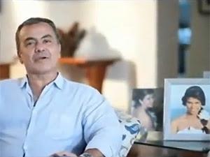 Gerardo Rabello fala de Luíza em comercial (Foto: Reprodução/Youtube)
