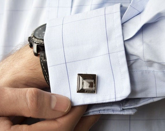 Men's cufflinks - Techie cufflinks - Brown Circuit board - Geekery - Geeky Cufflinks