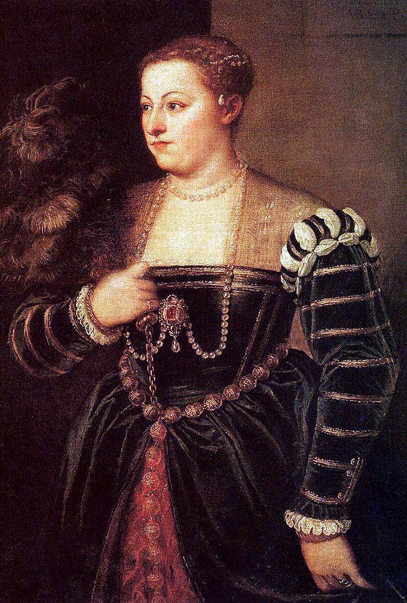 Titziano Vecellio (Titian) Portrait of Titian's Daughter Lavinia