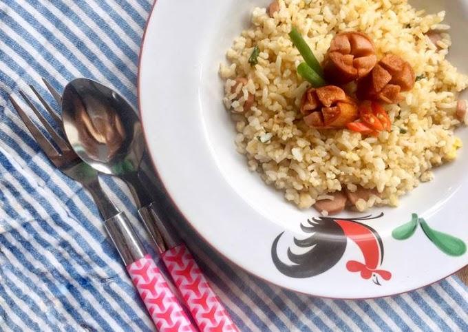 Resep Gyeran Bokkeumbap (계란 볶음밥) / Nasi Goreng Telur Korea Yang Enak