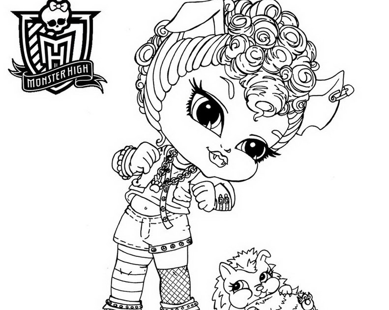 Coloriage204 Coloriage Monster High Baby