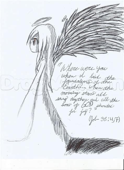 drawing  anime angel step  step concept art fantasy