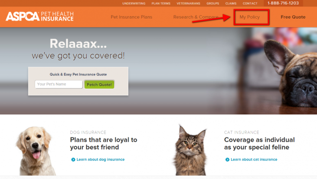 ASPCA Pet Health Insurance Login | Make a Payment